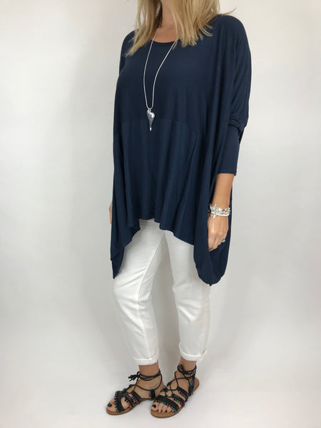 Lagenlook Anne Swish Top in Navy. code 5645