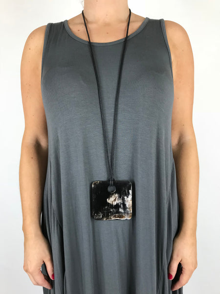 Lagenlook Tribal Square Necklace. Code A0490
