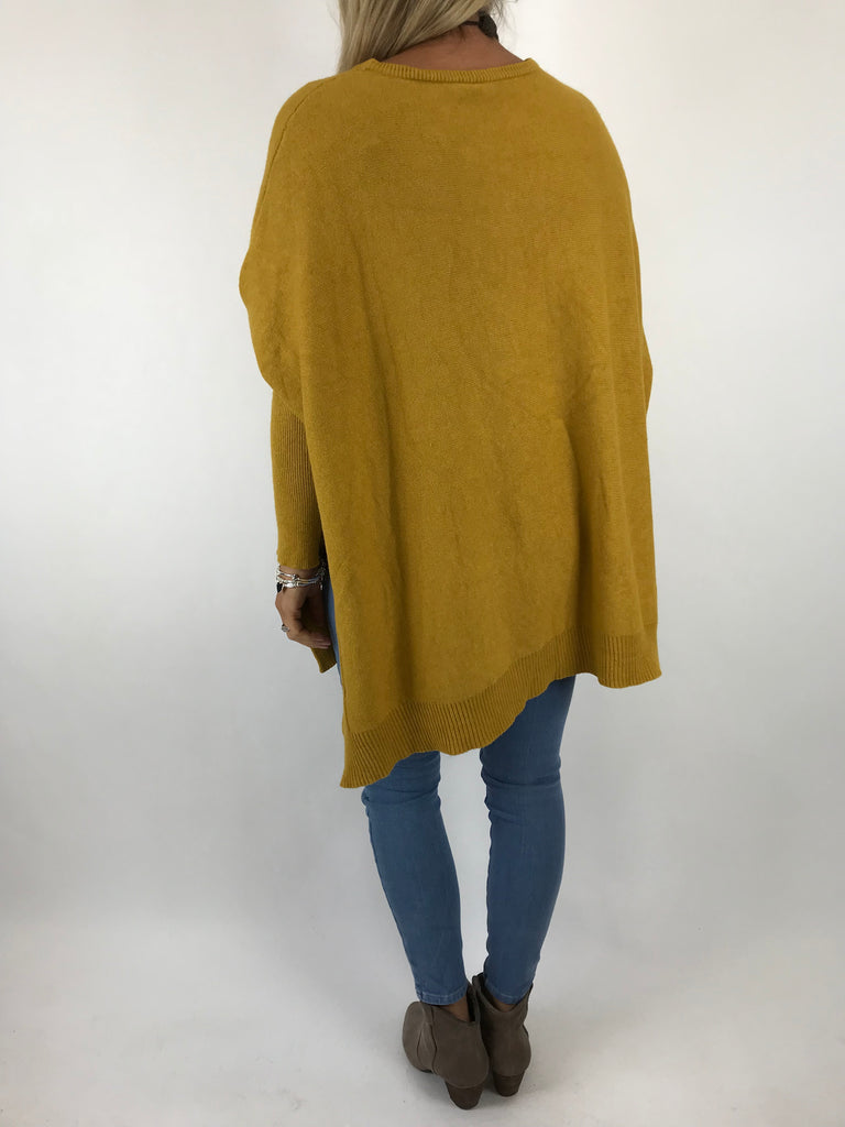 Lagenlook Lacey Jumper in Mustard. code 5395