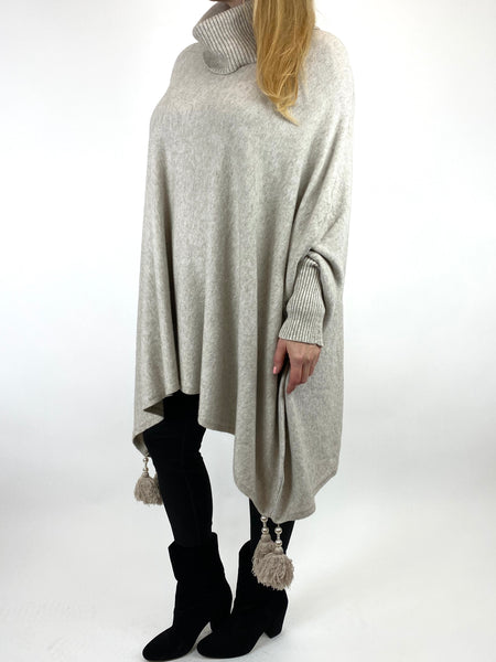 Lagenlook Melody Oversized Jumper in Cream. code 2692 - Lagenlook Clothing UK