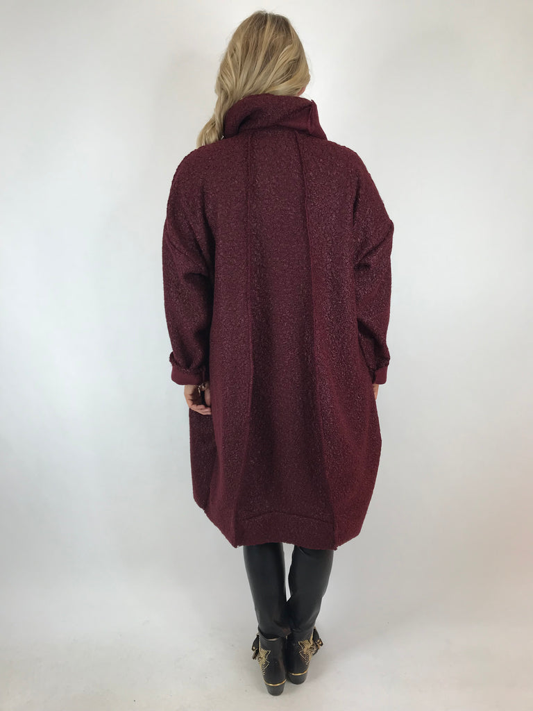 Lagenlook Verity Quirky Wrap Snood Plus Size in Plum. code 5554