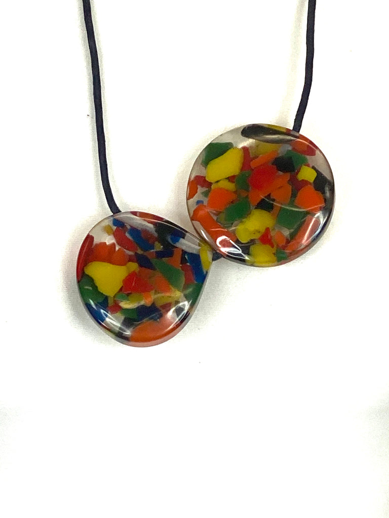 Lagenlook Multi Colour Pebbles Necklace. code A0833