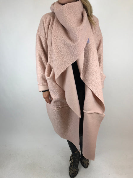 Lagenlook Verity Quirky Wrap Snood Plus Size in Pink. code 5554