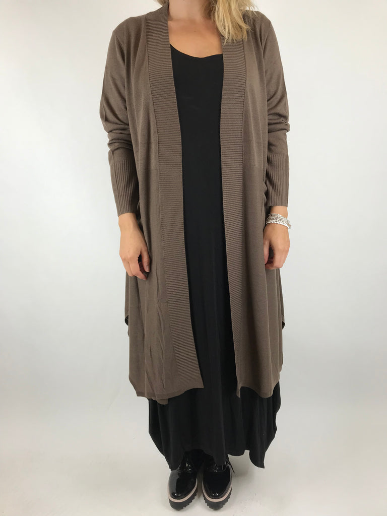 Lagenlook Harrison Cardigan in Brown. code A22240