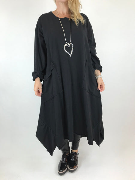 Lagenlook Faith Pocket Tunic in Black. code 6065