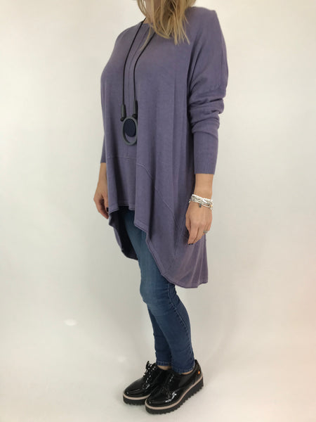 Lagenlook Millington knit in Purple. code 5977