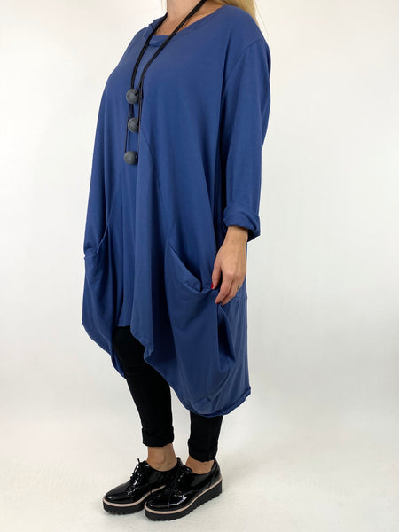 Lagenlook Ada Parachute Dress in Denim. code 91048 - Lagenlook Clothing UK