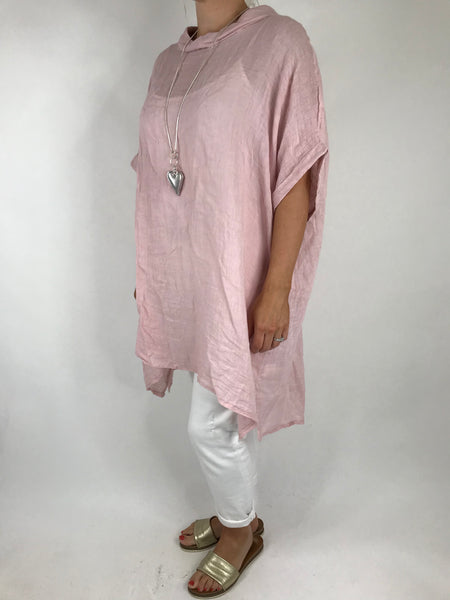 Lagenlook Lea Cheesecloth Linen Collared Top in Pale Pink. code 4332