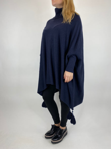 Lagenlook Melody Oversized 30+ Jumper in Navy. code 5511