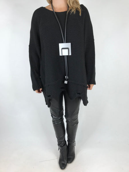 Lagenlook Lilly Jumper in Black. Code 5588