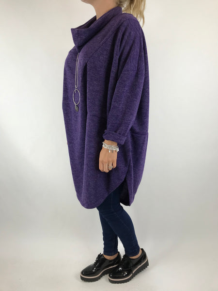 Lagenlook Alps 2 Snood 2 piece in Purple . Code 6004