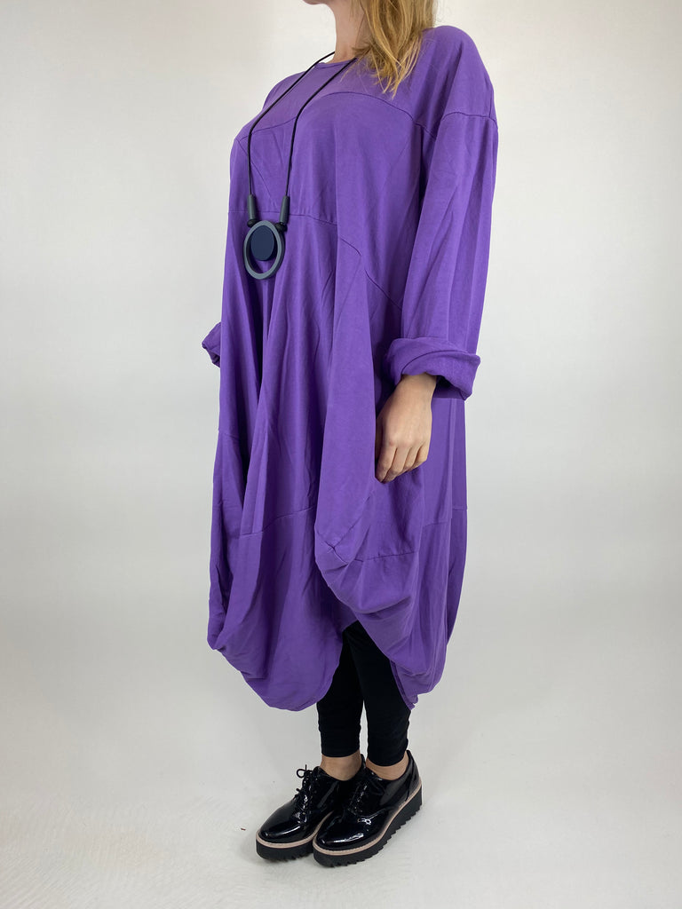 Lagenlook Hem Shape Curve 30+ in Purple. code 10245