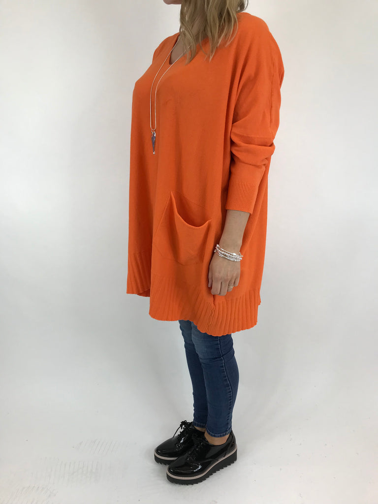 Lagenlook Whitney Oversized Knit in Orange. code 5603