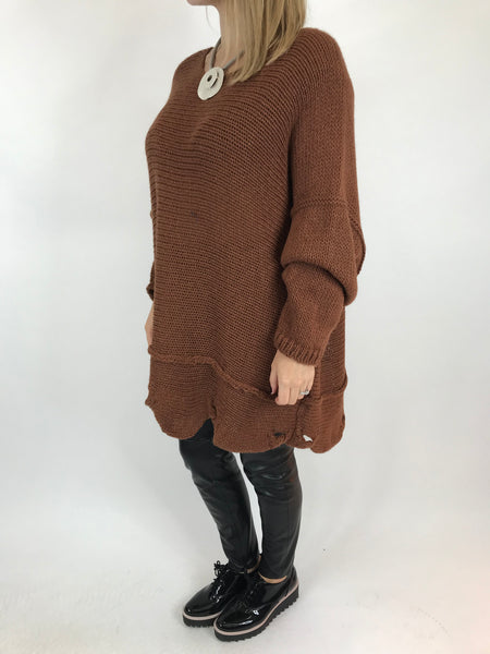 Lagenlook Lilly Jumper in Dark Camel. Code 5588