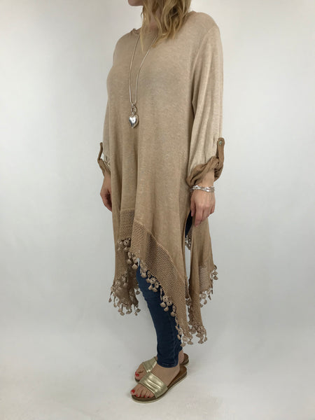 Lagenlook Bea Cotton Wash Colour Jumper in Camel. code 5981