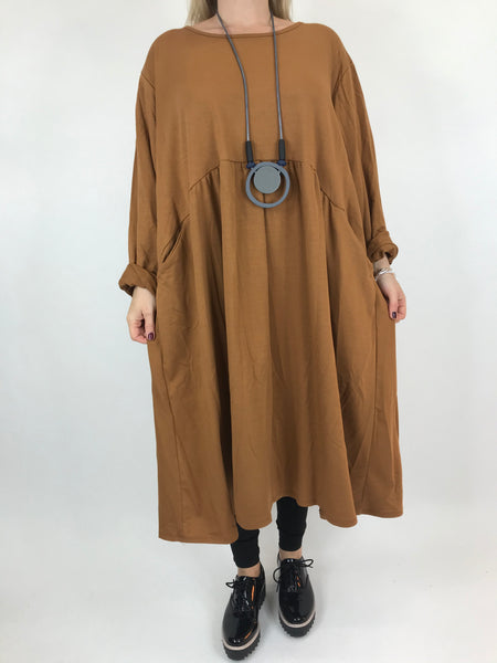 Lagenlook Tilbury Circle Shape Tunic in Rust.code AB602