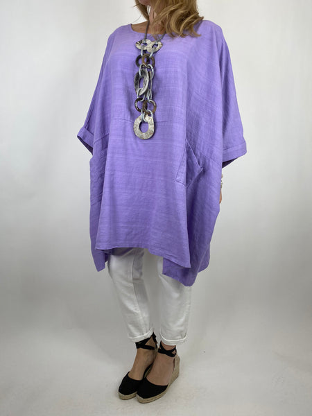 Lagenlook Maya Summer Top in Lilac. code 8365