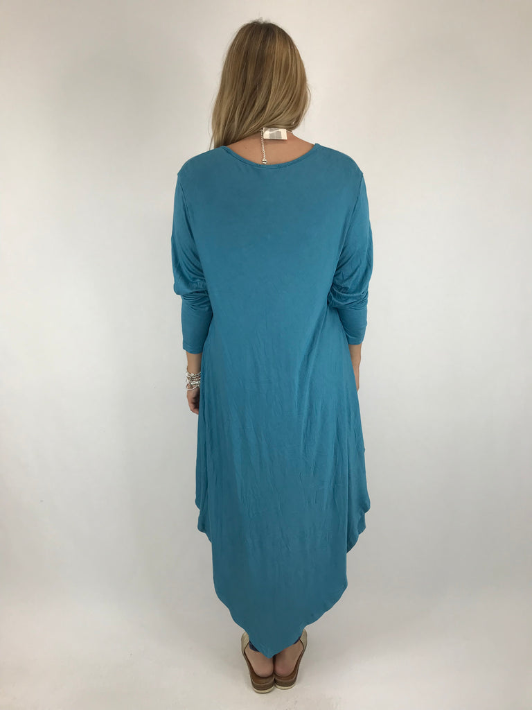 Lagenlook Erin Jersey V-Neck in Teal. code 5972