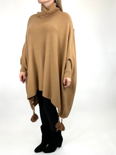 Lagenlook Melody Oversized Jumper in Camel. code 2692 - Lagenlook Clothing UK