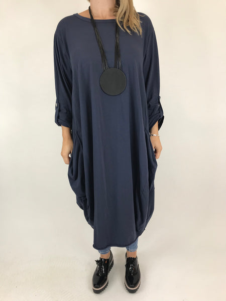 Lagenlook Alicia Pocket Tunic in Navy .code 5626