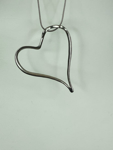 Lagenlook Heart Necklace Necklace .Code N860