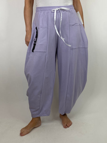 Lagenlook Wide Angle leg Sweat pants Trousers in Lilac. code 4040