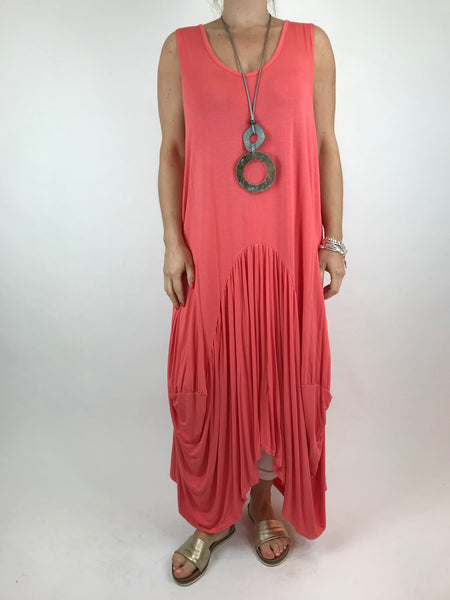 bd933b2f0180 Lagenlook Molly Jersey Essential in Coral. code 9873 ...