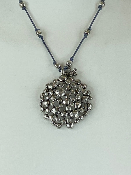 Lagenlook Cluster Shape Pendant Short Necklace .Code XL1678