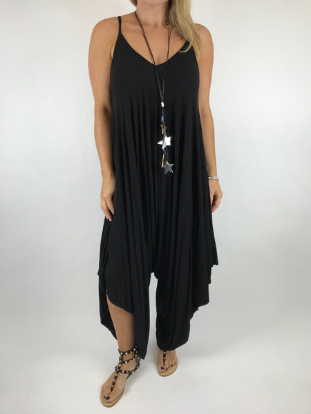 Lagenlook Ruby Jersey Jumpsuit in Black. code 1540