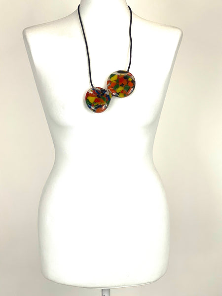 Lagenlook Multi Colour Pebbles Necklace. code A0833 - Lagenlook Clothing UK