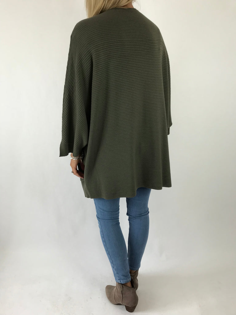 lagenlook Lola Oversized Jumper In Khaki. code 5361