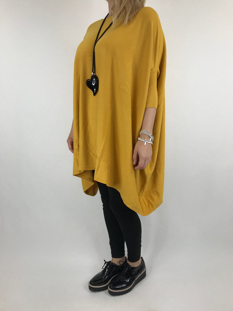 Lagenlook Abi Oversized Jumper in Mustard. code 4735