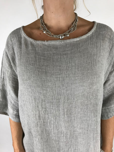 Lagenlook Multi Heart Short Necklace. code MA6501