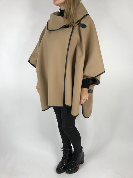Lagenlook Buckle side Jacket in Camel. code 8458