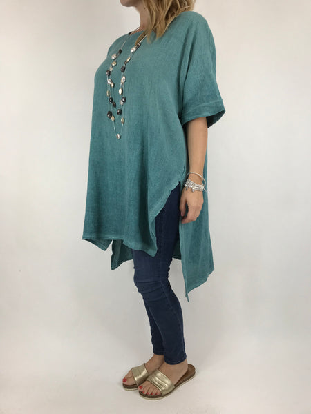 Lagenlook Alto Cotton Top in Seaweed. code 5912