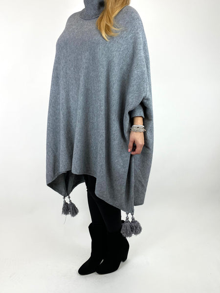 Lagenlook Melody Oversized Jumper in Grey. code 2692 - Lagenlook Clothing UK