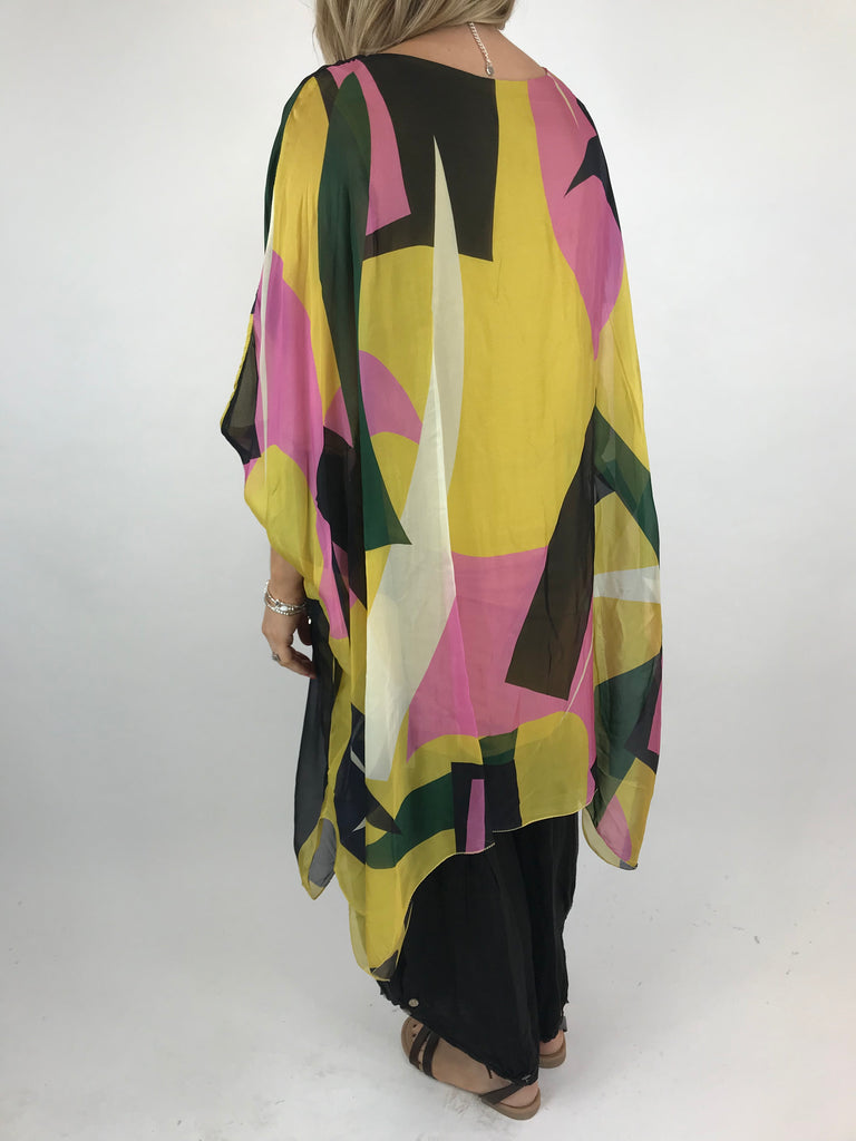 Lagenlook Block Colour Silk in Yellow. code 1727b