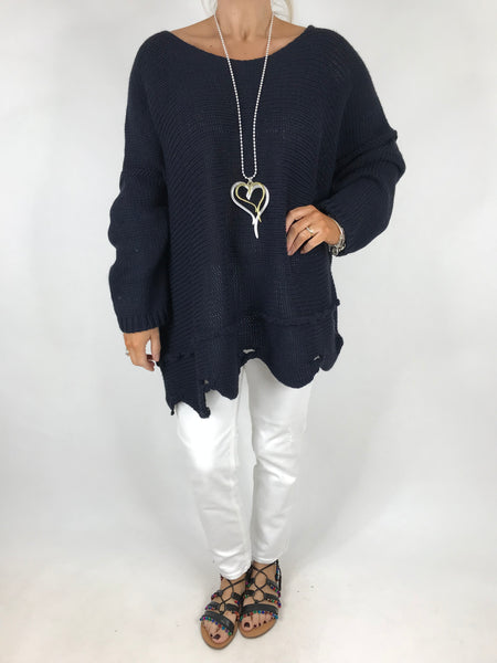 Lagenlook Lilly Jumper in Navy. Code 5588