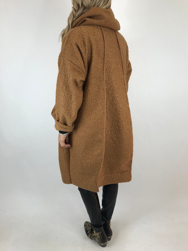 Lagenlook Verity Quirky Wrap Snood Plus Size in Camel. code 5554
