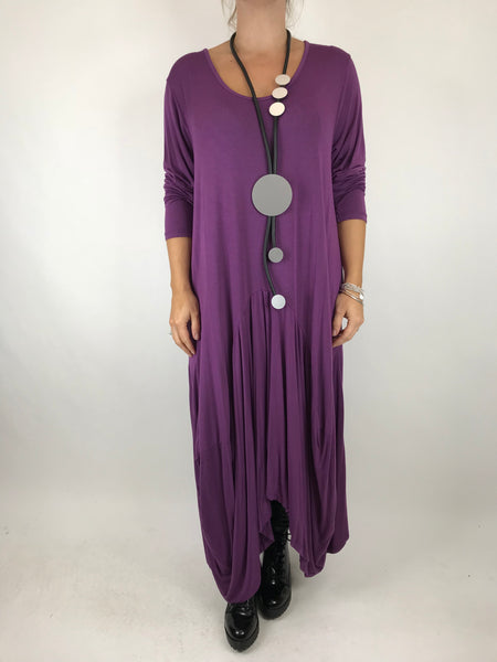 Lagenlook Misha Long Sleeve Jersey in Purple. code 98731