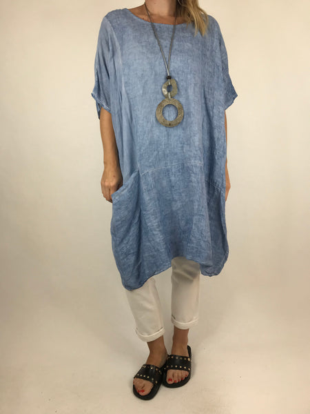 Lagenlook Quirky Janine Top in Denim. code 5798