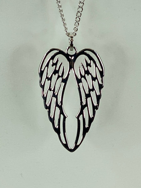 Lagenlook Pair of Angel Wings Necklace .code N327
