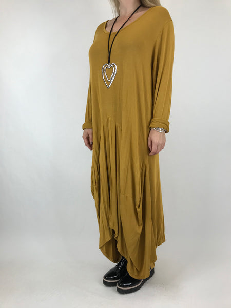 Lagenlook Misha Long Sleeve Jersey in Mustard . code 98731