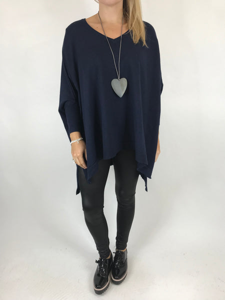 Lagenlook Clare Jumper In Navy. code 00001