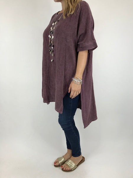 Lagenlook Alto Cotton Top in Purple . code 5912