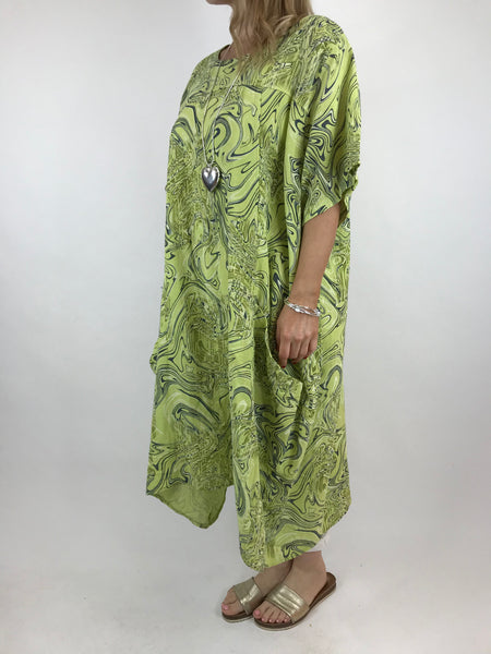 d502655a081 ... Lagenlook Shaped Swirl Tunic in Lime. code 5517