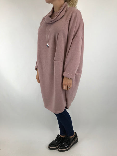 Lagenlook Alps 2 Snood 2 piece in Pink . Code 6004