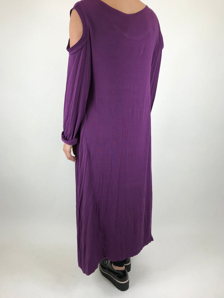 Lagenlook Alley Cold Shoulder Tunic in Purple. code 1026