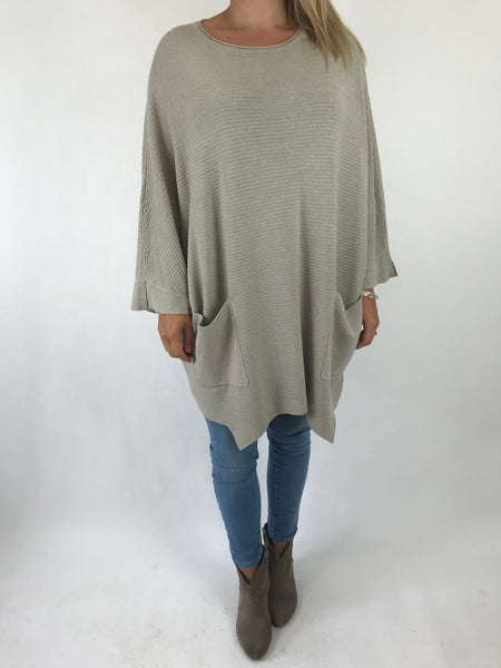 Lagenlook Lola Oversized Jumper In Cream. code 5361