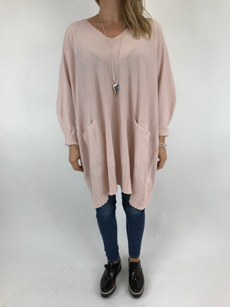 Lagenlook Whitney Oversized Knit in Pale Pink. code 5603